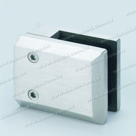 S.S. Glass Clamp Large Square Shape - Stainless Steel Glass Clamp Large Square Shape - With Center Pin for Drill Hole on Glass