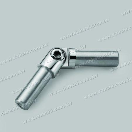 S.S. Round Tube Internal Elbow Conn. Angle Adj. - Stainless Steel Round Tube Internal Elbow Connector Angle Adjustable