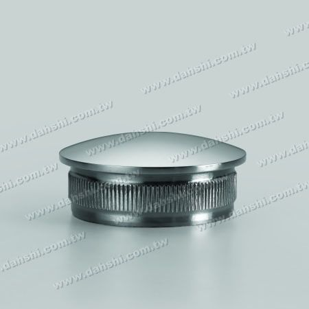 S.S. Round Tube Curve Top End Cap with Fix Rim Design - Stainless Steel Round Tube Curve Top End Cap with Fix Rim Design