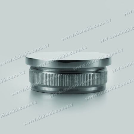 S.S. Round Tube Flat Top End Cap with Fix Rim Design - Stainless Steel Round Tube Flat Top End Cap with Fix Rim Design