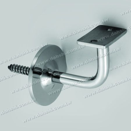 S.S. Square, Rectangular Tube Handrail Wall Bracket - Self-Tapping Screw - Stainless Steel Square Tube, Rectangular Tube Handrail Wall Bracket - Angle Fixed
