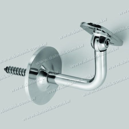 S.S. Square, Rectangular Tube Handrail Wall Bracket - Self-Tapping Screw - Stainless Steel Square Tube, Rectangular Tube Handrail Wall Bracket - Angle Adjustable