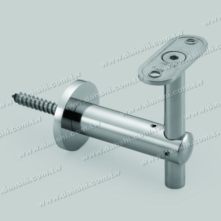 S.S. Square, Rectangular Tube Handrail Wall Bracket Adj. Height - Self-Tapping Screw - Stainless Steel Square Tube, Rectangular Tube Handrail Wall Bracket Adjustable Height - Angle Fixed
