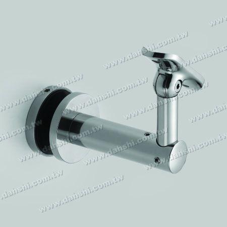S.S. Bracket for Glass with Radiused Angle Adj. - Stainless Steel Bracket for Glass with Radiused Angle Adjustable