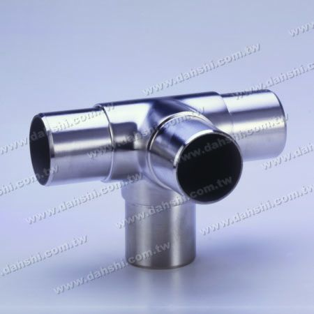 S.S. Round Tube Internal 90° T Connector 4 Way Out - Stainless Steel Round Tube Internal 90degree T Connector 4 Way Out