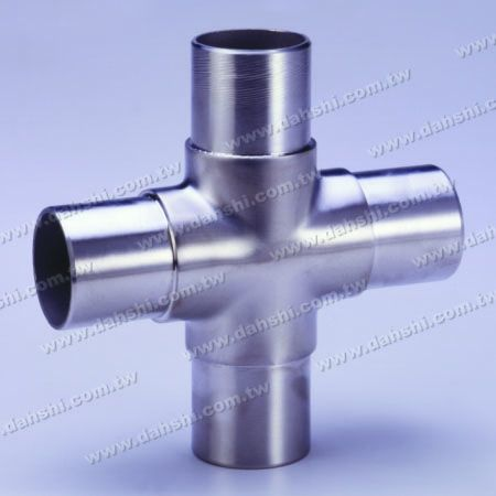 S.S. Round Tube Internal Cross Connector 4 Way Out - Stainless Steel Round Tube Internal Cross Connector 4 Way Out