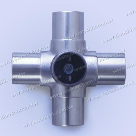 Connecteur interne à tube rond en acier inoxydable, 5 sorties - Connecteur interne à tube rond en acier inoxydable, 5 sorties