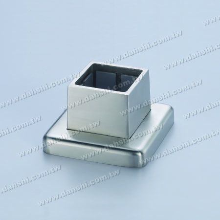 S.S. Square Tube Base 3 Pieces - Stainless Steel Square Tube Handrail 3 Pieces Base - Screw Invisible