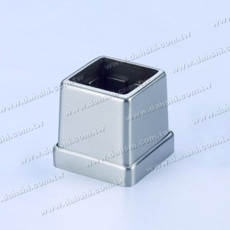 S.S. Square Tube Base 2 Pieces - Stainless Steel Square Tube Handrail 2 Pieces Base - Screw Invisible