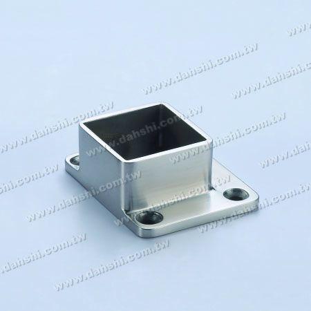 غير القابل للصدأ الصلب مربع أنبوب الدرابزين قاعدة جدار حافة الاستخدام - غير القابل للصدأ الصلب مربع أنبوب الدرابزين قاعدة جدار حافة الاستخدام