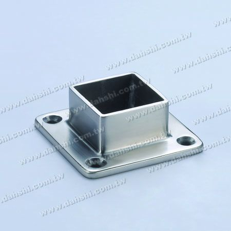 Stainless Steel Square Tube Handrail Base - Stainless Steel Square Tube Handrail Base