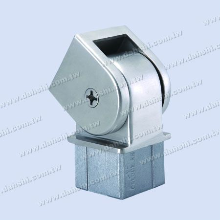 S.S. Square Tube Perp. Post Conn. Angle Adj. - Stainless Steel Square Tube Handrail Perpendicular Post Connector Angle Adjustable Internal Fit