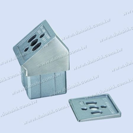 S.S. Handrail Perp. Post Conn. 127.5° Internal Fit - Stainless Steel Square Tube Handrail Perpendicular Post Connector 127.5deg Internal Fit