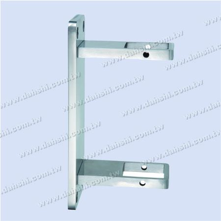 Stainless Steel Square Tube Handrail Bracket Rectangle Back - Stainless Steel Square Tube Handrail Bracket Rectangle Back