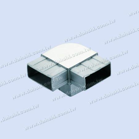 ท่อเอสเอสสี่เหลี่ยมผืนผ้าภายใน 90 ° T คอนเนอร์รอบมุม - ท่อสแตนเลสสี่เหลี่ยมผืนผ้าภายใน 90 องศา T เชื่อมต่อรอบมุม