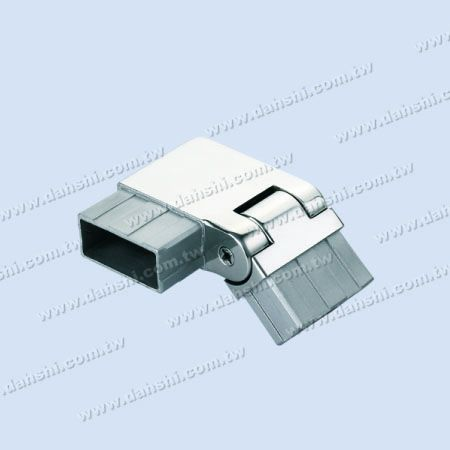 S.S. Rectangle Tube Corner Conn. Angle Adj. Right - Stainless Steel Rectangle Tube Internal Stair Square Corner Connector Angle Adjustable Right