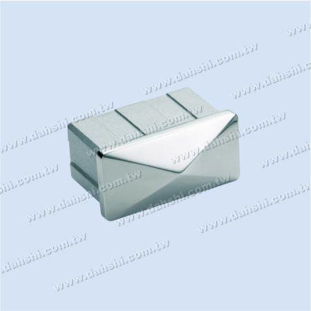 SS長方形チューブスパイアトップエンドキャップ - ステンレス鋼長方形チューブスパイアトップエンドキャップ