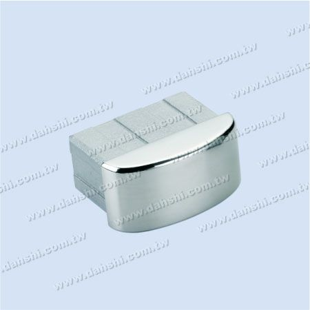 S.S. Rectangle Tube Curve Top End Cap - Stainless Steel Rectangle Tube Curve Top End Cap