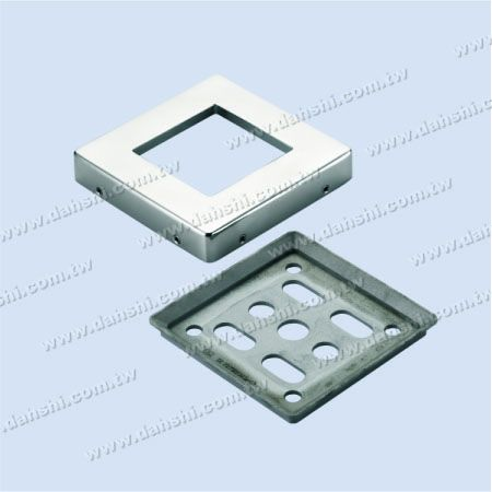 S.S. Square Post 2 Pieces Base - Screw Invisible - Stainless Steel Square Post 2 Pieces Base - Screw Invisible