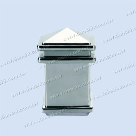 S.S. Square Tube Spire Top Post Head - 3 Layers - Stainless Steel Square Tube Spire Top Post Head - 3 Layers