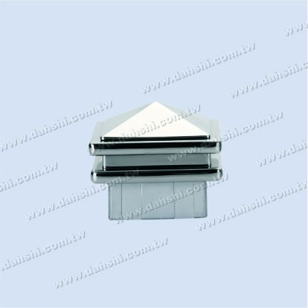 S.S. Square Tube Spire Top Post End Cap - 2 Layers - Stainless Steel Square Tube Spire Top Post End Cap - 2 Layers