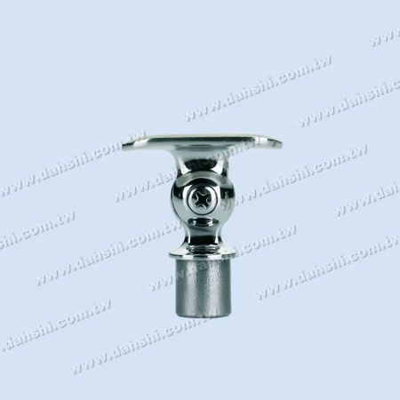 S.S. Round Tube Perp. Post Adj. Conn. Support Radiused Int. - Stainless Steel Round Tube Handrail Perpendicular Post Adjustable Connector Support Radiused Internal Fit for 19mm Use