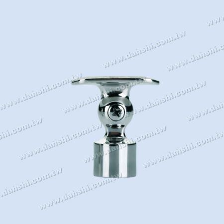 S.S. Round Tube Perp. Post Adj. Conn. Support Radiused Ext. - Stainless Steel Round Tube Handrail Perpendicular Post Adjustable Connector Support Radiused External Fit for 19mm Use