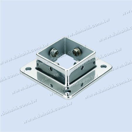 S.S. Square Post Base - Screw Expose - Stainless Steel Square Post Base - Screw Expose