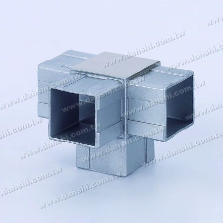 S.S. Square Tube Internal 90° T Conn. 4 Way Out - Stainless Steel Square Tube Internal 90degree T Connector 4 Way Out