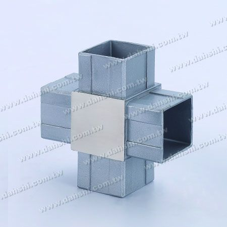 S.S. Square Tube Internal Cross Connector 4 Way Out - Stainless Steel Square Tube Internal Cross Connector 4 Way Out
