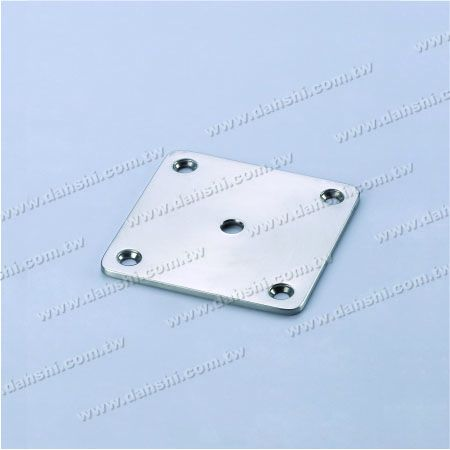 S.S. Square Base - Stainless Steel Square Base for Tube Handrail Support