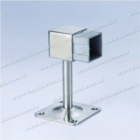 Square Tube Handrail Two Side Wall Bracket - Screw Exposed Bracket - Balcony or Interior Decoration Balustrade Square Tube Handrail Two Side Wall Bracket