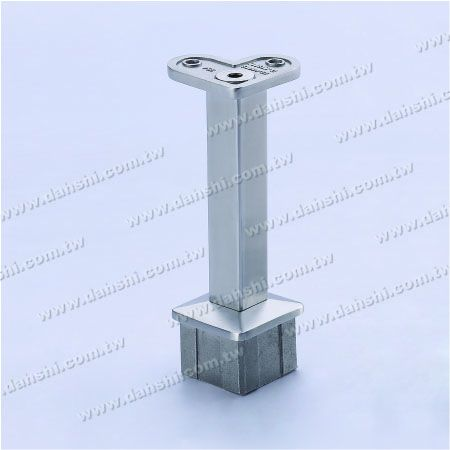 Handrail Perpendicular Post 90° Support Connector - Stainless Steel Square Tube Handrail Perpendicular Post 90deg Support Connector