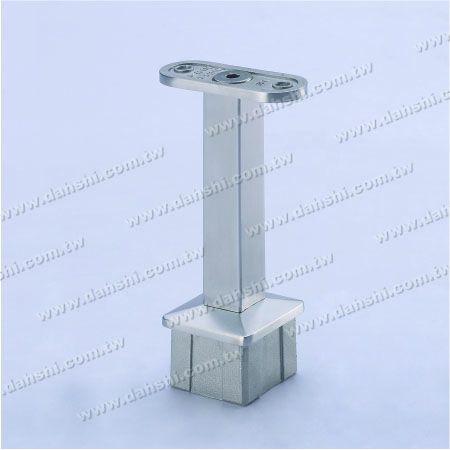 Handrail Perpendicular Post Support Connector - Stainless Steel Square Tube Handrail Perpendicular Post Support Connector