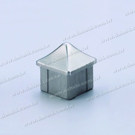 S.S. Square Tube Spire Top End Cap - Stainless Steel Square Tube Spire Top End Cap