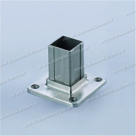 Stainless Steel Square Tube Handrail Base Internal Insert - Stainless Steel Square Tube Handrail Base Internal Insert