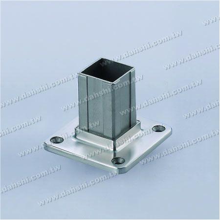 الفولاذ المقاوم للصدأ مربع أنبوب الدرابزين قاعدة إدراج داخلي - الفولاذ المقاوم للصدأ مربع أنبوب الدرابزين قاعدة إدراج داخلي