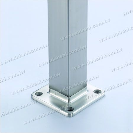 for Square Pipe - Stainless Steel Square Tube Handrail Base Internal Insert