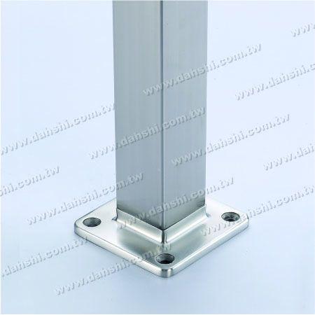 for Square Pipe - Stainless Steel Square Tube Handrail Base Internal Insert