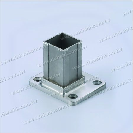 S.S. Square Tube Base Internal Insert Wall Edge Use - Stainless Steel Square Tube Handrail Base Internal Insert Wall Edge Use