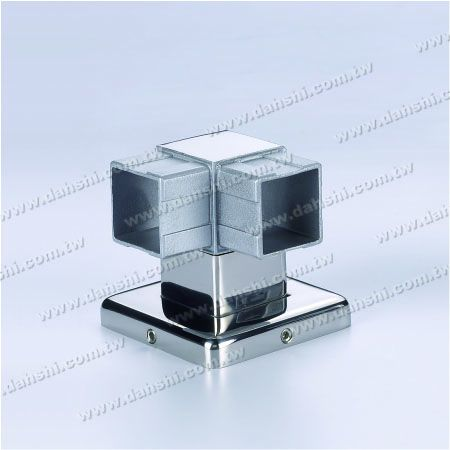 S.S. Square Tube Handrail Support Corner - Stainless Steel Square Tube Handrail Support Corner - Screw Invisible