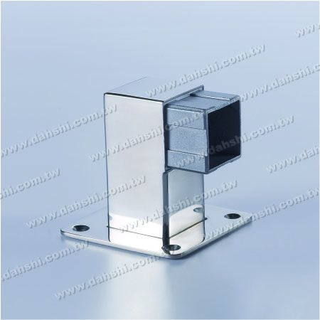 S.S. Square Tube Handrail Support Side End - Stainless Steel Square Tube Handrail Support Side End - Screw Expose