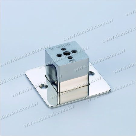 Stainless Steel Square Tube Handrail Support Middle - Screw Expose - Stainless Steel Square Tube Handrail Support Middle - Screw Expose