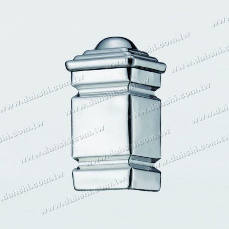 S.S. Square Post Head Plain Surface - Stainless Steel Square Post Head Plain Surface