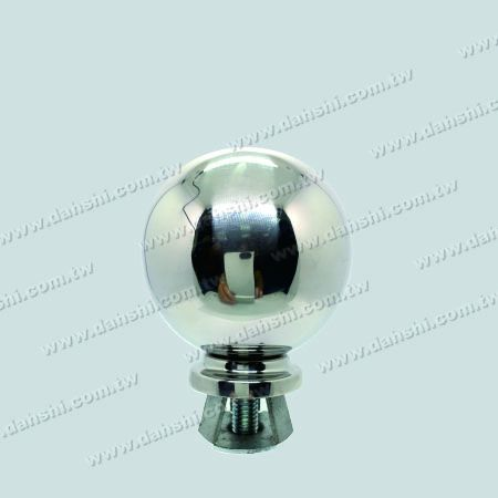 "Stainless Steel 3 1/2"" Ball with Cover for 2"" Pipe - Stainless Steel 3 1/2"" Ball with Cover for 2"" Pipe"