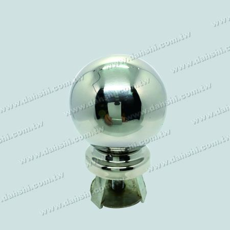 "Stainless Steel 3 1/2"" Ball with Cover for 2 1/2"" Pipe - Stainless Steel 3 1/2"" Ball with Cover for 2 1/2"" Pipe"
