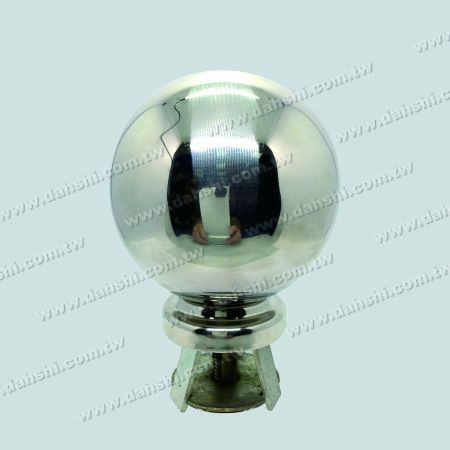 "Stainless Steel 4 1/4"" Ball with Cover for 2 1/2"" Pipe - Stainless Steel 4 1/4"" Ball with Cover for 2 1/2"" Pipe"