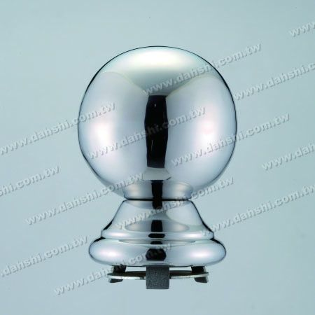"""Stainless Steel 4 1/4"""" Ball  x H5 1/2"""" with Cover for 3"""" Pipe - Stainless Steel 4 1/4"""" Ball  x H5 1/2"""" with Cover for 3"""" Pipe"""