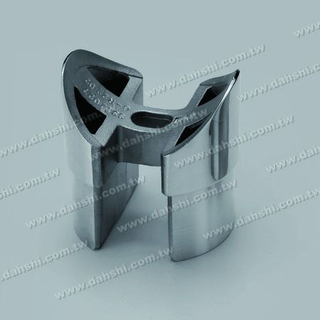 Channel Tube Handrail Perp. Post Saddle Connector - Stainless Steel Channel Tube Handrail Perpendicular Post Saddle Connector - Mirror