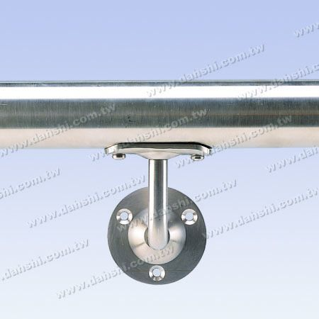 - Fixed - Screw Exposed Bracket - Stainless Steel Round Tube Handrail Wall Bracket - Angle Fixed
